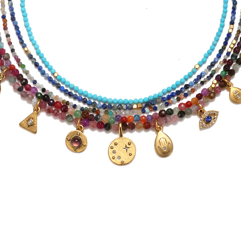 Fortuna Semi-Precious Multi-Strand Necklace