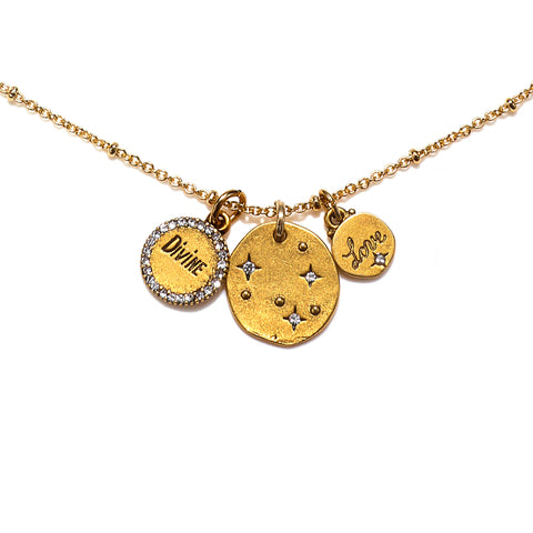 """Love is Divine"" Talisman Necklace"