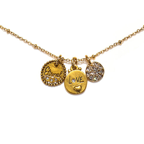 """Love is Eternal"" Talisman Necklace"