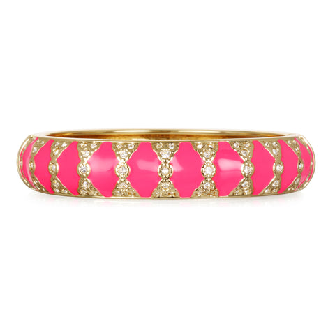 Moorish Fuschia Medium Bangle Bracelet