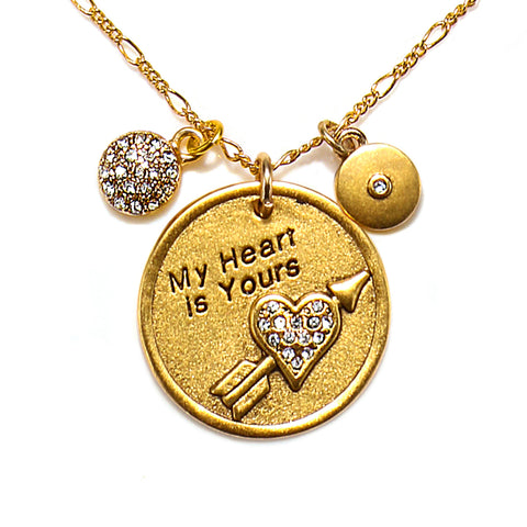 """My Heart is Yours"" Talisman Necklace"