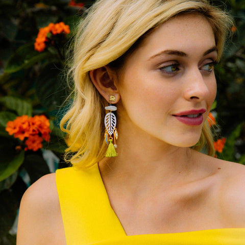 Papyrus Tassel Earrings