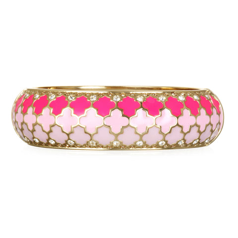 Tuile Fuschia Wide Bangle Bracelet