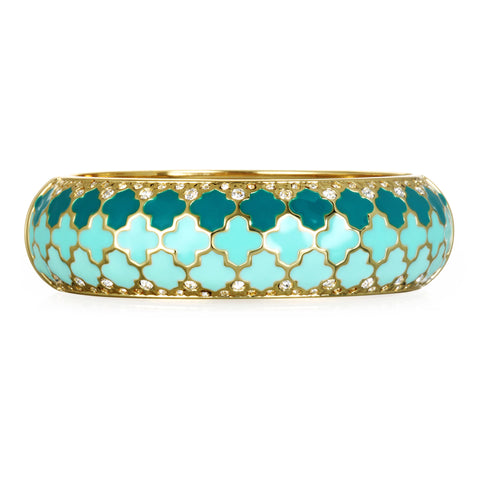 Tuile Mint Wide Bangle Bracelet