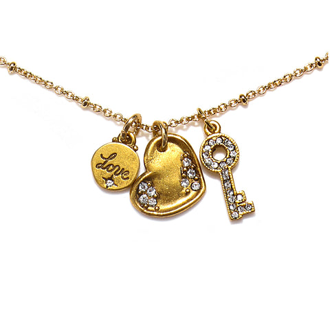 """Unlock my Heart"" Talisman Necklace"