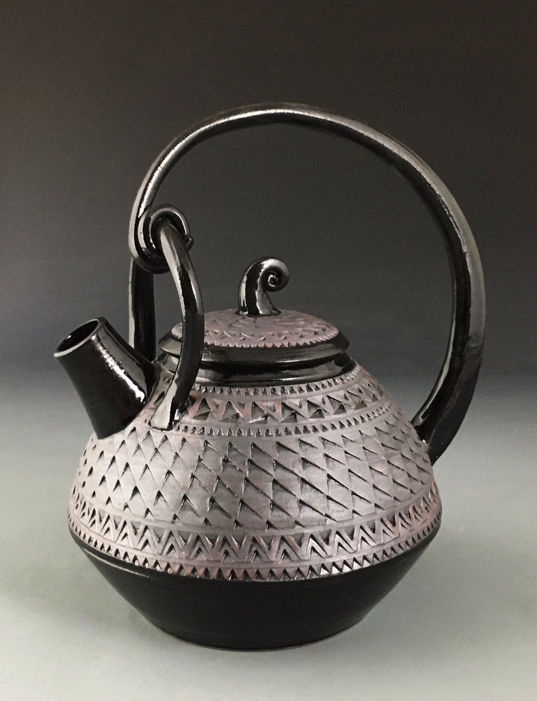 Rope-handled Oxide Teapot