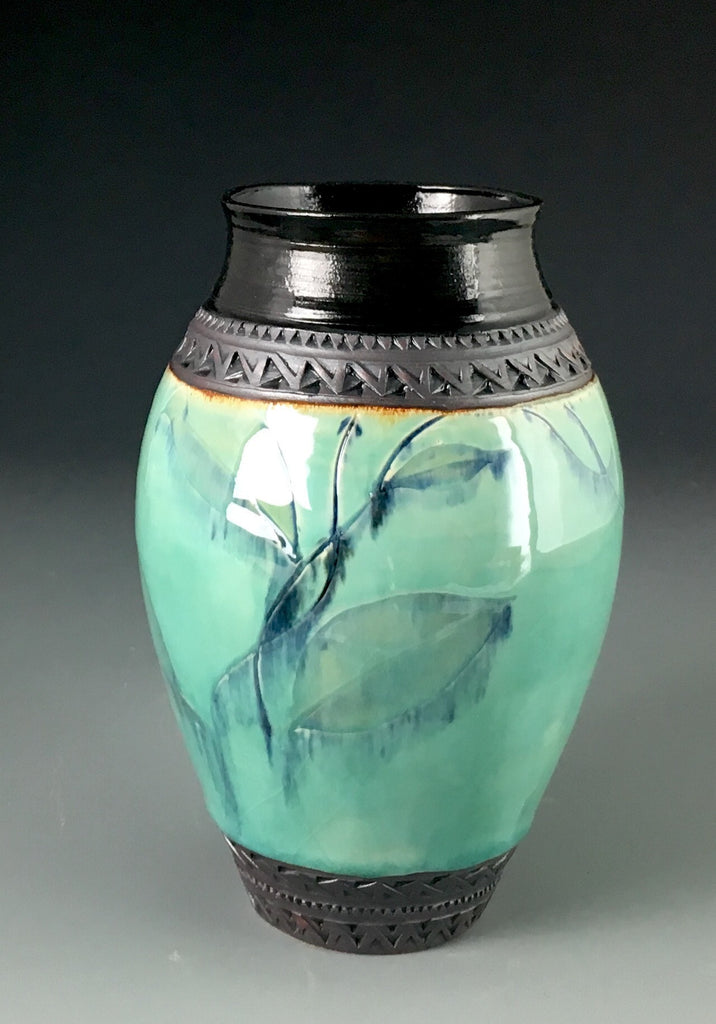 Small Tall Green Vase