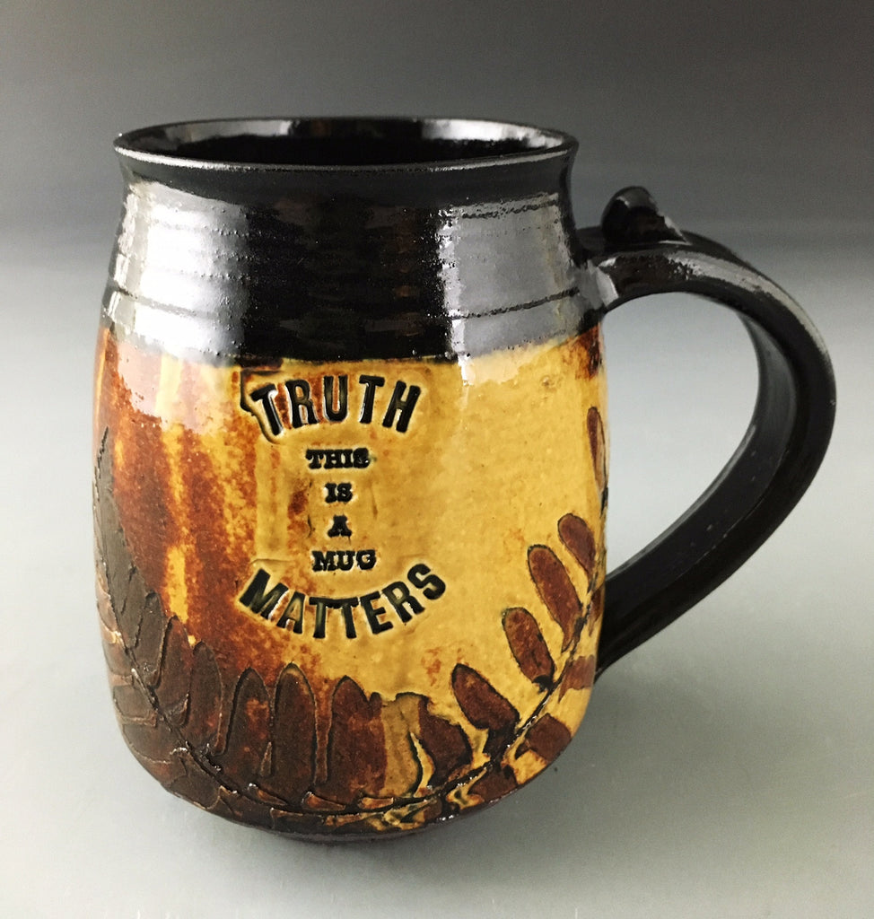 Truth Matters Mug in Amber with Fern -SOLD-  Accepting orders.