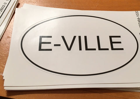 E-Ville Bumper Sticker