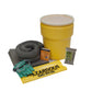 10 GALLON UNIVERSAL JOBSITE EMERGENCY RESPONSE SPILL KIT CLEANS OILS CHEMICALS