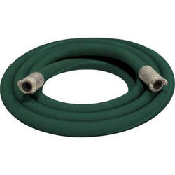 "1 1/2"" X 25' 2 BRAID GREEN EXTENSION SANDBLASTING HOSE WITH ALUMINUM COUPLINGS"