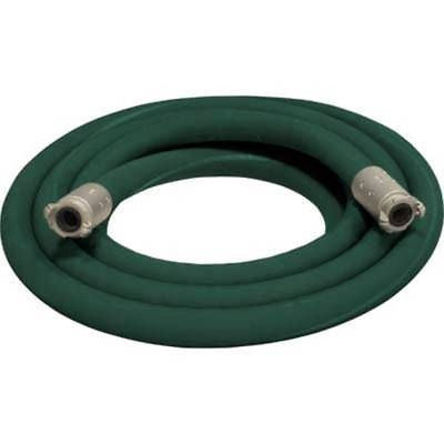 "1 1/2"" X 25' 2 BRAID GREEN GOODYEAR SANDBLASTING HOSE WITH ALUMINUM COUPLINGS"