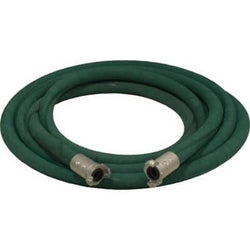 "1"" X 25' 2 BRAID GREEN EXTENSION SANDBLASTING HOSE WITH ALUMINUM COUPLINGS"