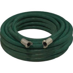 "1"" X 100' 2 BRAID GREEN EXTENSION SANDBLASTING HOSE WITH ALUMINUM COUPLINGS"