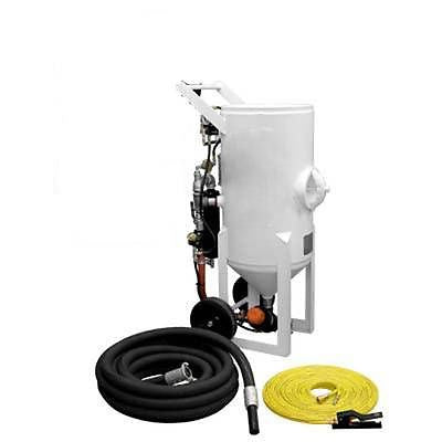 SCHMIDT AXXIOM STYLE 6.5 CUFT PORTABLE SANDBLASTER WITH PNEUMATIC REMOTES HOSE/NOZZ PH