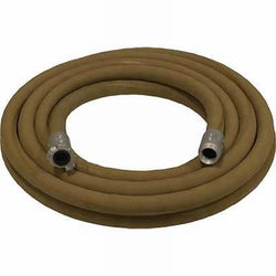 "1 1/4"" X 50' SUPA BROWN TAN SANDBLASTING WHIP HOSE & ALUMINUM NOZZLE HOLDER"