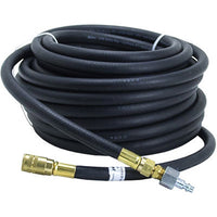 "Bullard V10 3/8"" ID 4696 50-foot Starter hose with 1/4"" Industrial Interchange Q.D. coupler and male nipple for use with breathing air compressors"