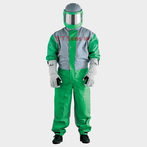 HEAVY DUTY LIGHT WEIGHT SANDBLASTING SHOTBLASTING SAFETY NYLON COVERALLS