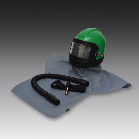 NOVA 2000 AIR FED SANDBLASTING HELMET SAND BLAST HOOD FOR SHOTBLASTING