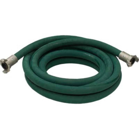"3/4"" X 25' 2 BRAID GREEN EXTENSION SANDBLASTING HOSE WITH ALUMINUM COUPLINGS"
