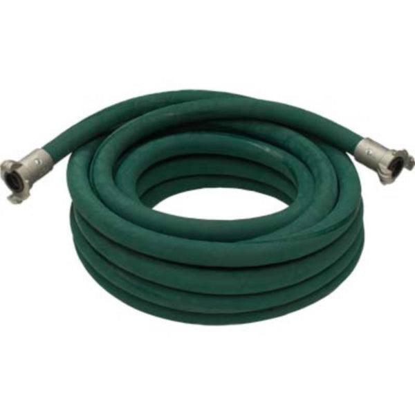 "3/4"" X 50' 2 BRAID GREEN EXTENSION SANDBLASTING HOSE WITH ALUMINUM COUPLINGS"