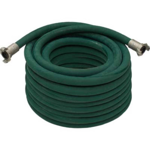 "3/4"" X 100' 2 BRAID GREEN GOODYEAR SANDBLASTING HOSE WITH ALUMINUM COUPLINGS"