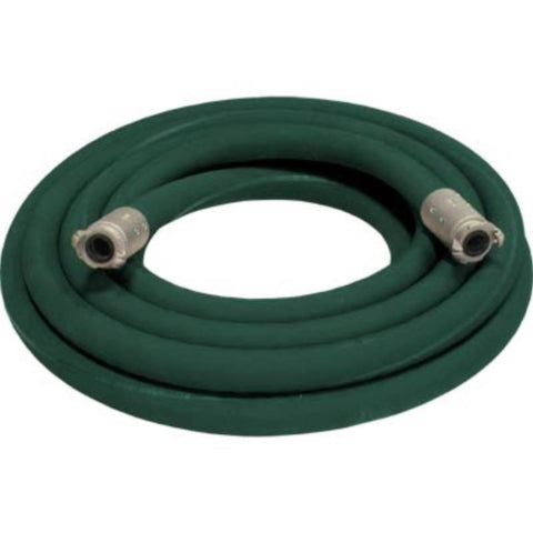 "1 1/2"" X 50' 2 BRAID GREEN GOODYEAR SANDBLASTING HOSE WITH ALUMINUM COUPLINGS"