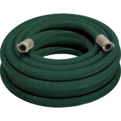 "1 1/2"" X 100' 2 BRAID GREEN GOODYEAR SANDBLASTING HOSE WITH ALUMINUM COUPLINGS"