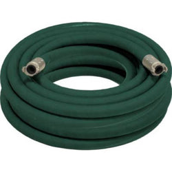 "1 1/4"" X 100' 2 BRAID GREEN EXTENSION SANDBLASTING HOSE WITH ALUMINUM COUPLINGS"