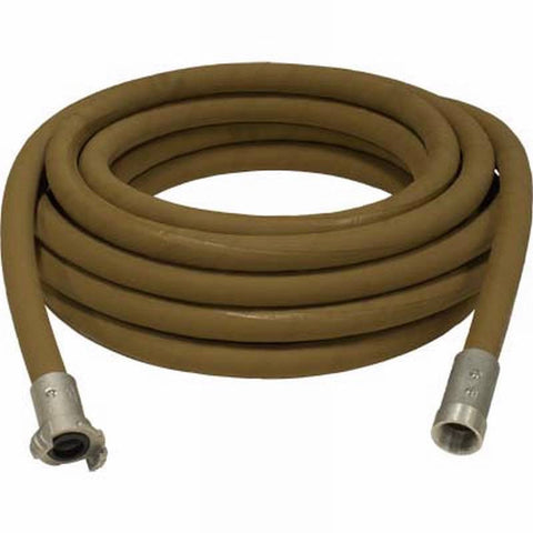 "1 1/4"" X 100' SUPA BROWN TAN SANDBLASTING WHIP HOSE & ALUMINUM NOZZLE HOLDER"