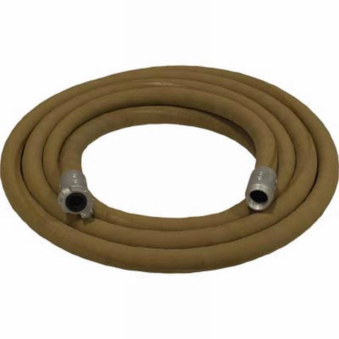 "1 1/4"" X 25' SUPA BROWN TAN SANDBLASTING WHIP HOSE & ALUMINUM NOZZLE HOLDER"