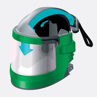 Allegro Nova 3 Air Fed Sandblasting Helmet Sand Blast Hood For Shotblasting
