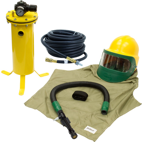 COMPLETE HOT/COOL AIR SANDBLASTING HOOD SYSTEM KIT FOR SHOTBLASTING BULLARD 88VX3230