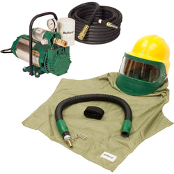 COMPLETE FREE AIR PUMP LOW PRESSURE AIR SANDBLASTING HOOD SYSTEM KIT BULLARD 88VX3230 EDP10
