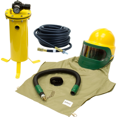 COMPLETE AIR FED SANDBLASTING HOOD SYSTEM KIT FOR SHOTBLASTING BULLARD 88VX3230