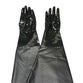 "Replaces Clemco 11215 Sandblast Cabinet Smooth Neoprene Pair Of Gloves 8"" X 31"""