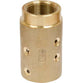 "STANDARD BRASS SANDBLAST HOSE NOZZLE HOLDER COUPLING FOR 1"" ID HOSE HE-2-BR"