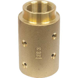 "STANDARD BRASS SANDBLAST HOSE NOZZLE HOLDER COUPLING FOR 1 1/4"" ID HOSE HE-3-BR"