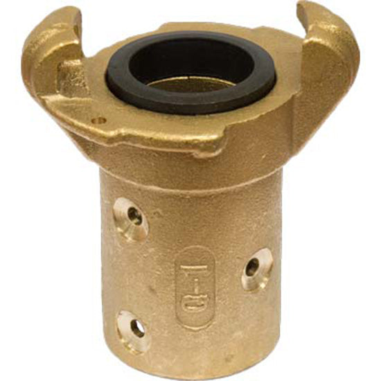 "STANDARD BRASS SANDBLAST MACHINE HOSE QUICK COUPLING FOR 3/4"" ID HOSE Q-1-BR"