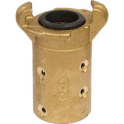 "STANDARD BRASS SANDBLAST MACHINE HOSE QUICK COUPLING FOR 1"" ID HOSE Q-2-BR"