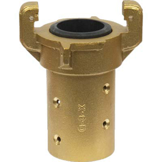 HEAVY DUTY BRASS FULL PORT SANDBLAST BLAST HOSE QUICK COUPLING FOR 1 1/4 ID HOSE