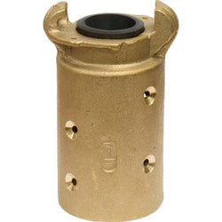 "STANDARD BRASS SANDBLAST MACHINE HOSE QUICK COUPLING FOR 1 1/2"" ID HOSE Q-4-BR"