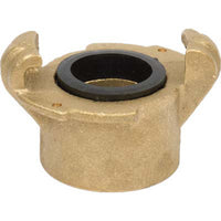 "SB-1S STANDARD THREADED SANDBLAST BRASS TANK COUPLING 1 1/4"" NPS CONNECTOR"