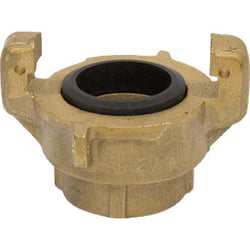 "SB-3X FULL PORT THREADED SANDBLAST BRASS TANK COUPLING 1 1/2"" NPT CONNECTOR"