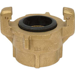 "SB-4X FULL PORT THREADED SANDBLAST BRASS TANK COUPLING 2"" NPT CONNECTOR"