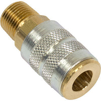 "Bullard V15 1/4"" Industrial Interchange 3/8"" Male NPT Quick-Disconnect Coupler Shut-off Type"