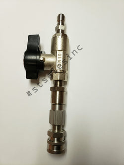 Complete Softwash Pressure Wash DN10 Ball Valve Set Up Swivel and SS Couplers