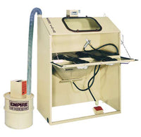 "HEAVY DUTY DELUXE INDUSTRIAL ABRASIVE SANDBLASTING  CABINET 24"" X 48"" X 23"" INSIDE WORKING AREA"