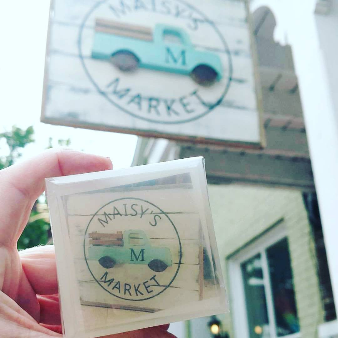 Customized business logo inside a bar of soap
