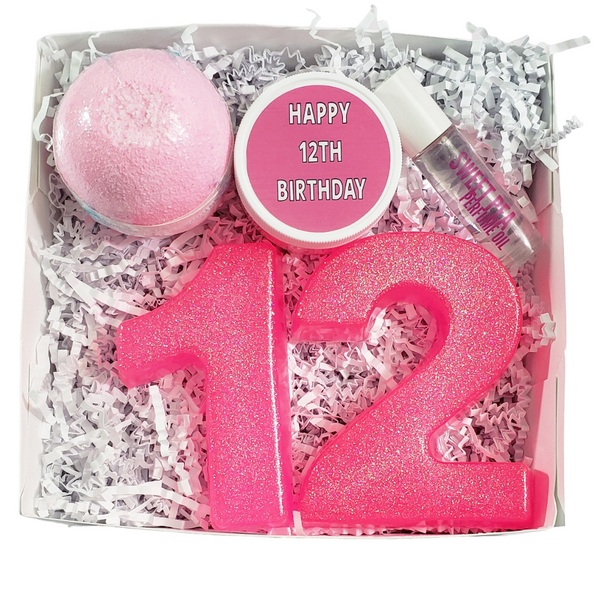 Happy 12th Birthday Spa Gift Box www.sunbasilsoap.com